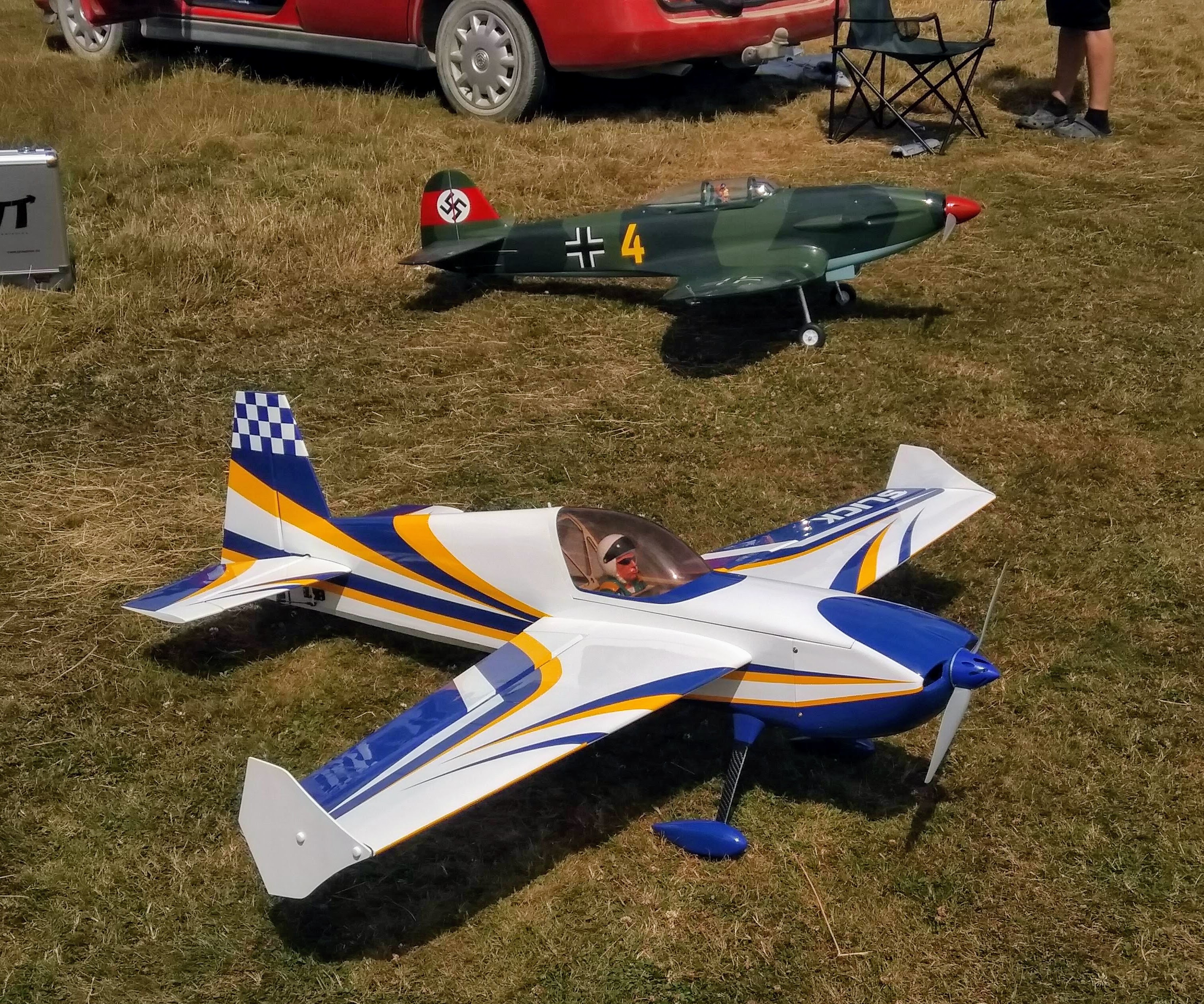 Black Horse Heinkel HE112B and Goldwing Slick540